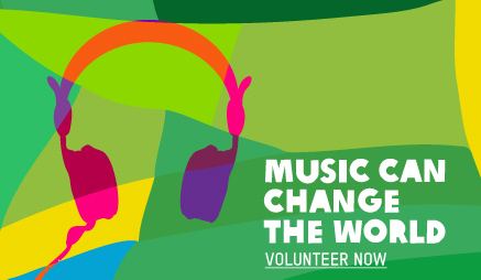 Volunteer at a concert